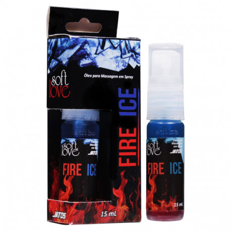 Fire & Ice Óleo Corporal para Massagem 15ml Soft Love - ShopSensual