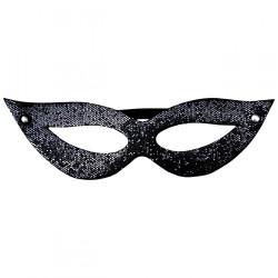 Máscara Tiazinha Luxo Glitter Preto Dominatrix - ShopSensual