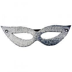 Máscara Tiazinha Luxo Glitter Prata Dominatrix - ShopSensual