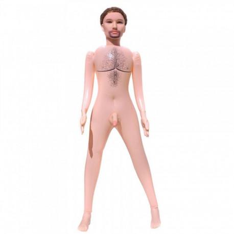 Boneco Inflável Com Pênis Realístico E Vibração - ShopSensual