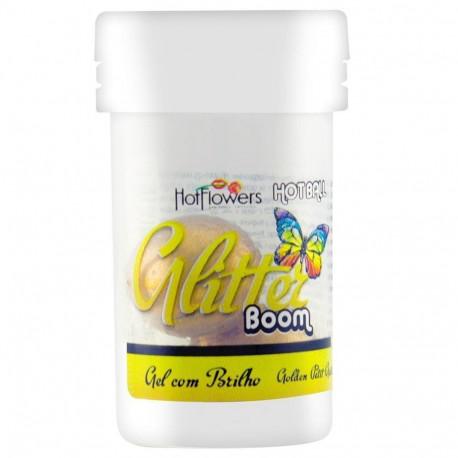 Hot Ball Bolinha Beijável Glitter Boom Dupla Hot Flowers - ShopSensual