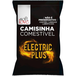 Camisinha Funcional Electric Plus Solúvel Soft Love - ShopSensual