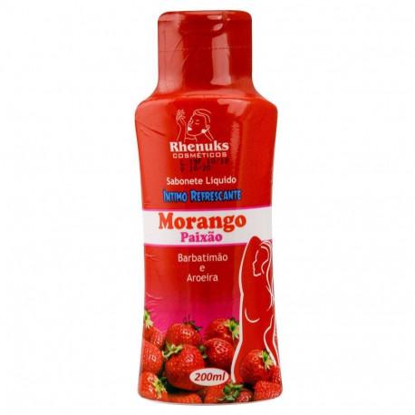 Sabonete Líquido Refrescante Aromático Morango 200ml Rhenuks - ShopSensual