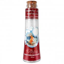 Banho de Sedução Sais Aromáticos Aromas da Morango c/ Champanhe 190g 40 Graus - ShopSensual