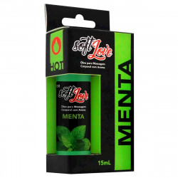 Óleo para Massagem Corporal Menta Hot 15ml Soft Love - ShopSensual