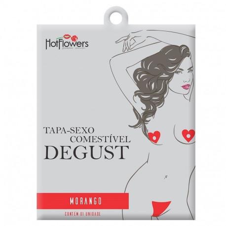 Degust Tapa Sexo Coração Morango Solúvel Hot Flowers - ShopSensual