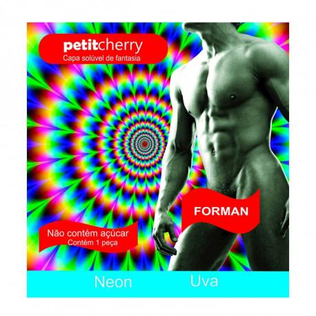 Capa Solúvel Uva Masculina de Fantasia Neon sem Costura de Gelatina Petit Cherry - ShopSensual