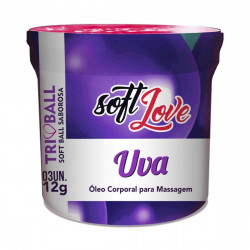 Bolinha Explosiva Uva Triball Soft Ball Saborosa 3un Soft Love - ShopSensual
