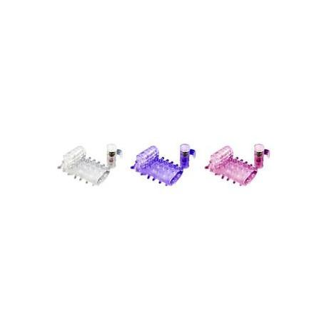 Meia Capa Peniana com Mini Cápsula Vibratória e Estimulador Clitoriano - ShopSensual
