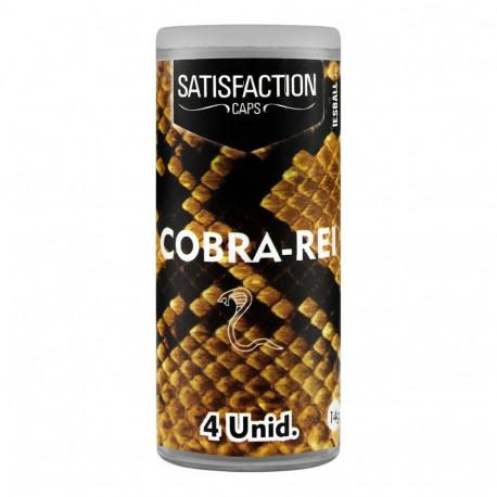 Bolinha Explosiva Cobra Rei 4 Unidades Satisfaction Caps - ShopSensual