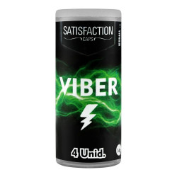 Bolinha Explosiva Viber 4 Unidades Satisfaction Caps - ShopSensual