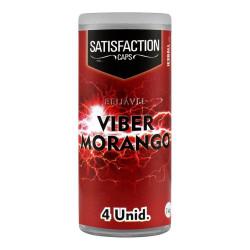 Bolinha Explosiva Viber Morango 4 Unidades Satisfaction Caps - ShopSensual