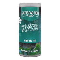 Bolinha Beijável Kiss Me Ice Hortelã 3 Unidades Satisfaction Caps - ShopSensual