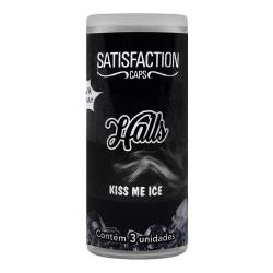 Bolinha Beijável Kiss Me Ice Halls 3 Unidades Satisfaction Caps - ShopSensual