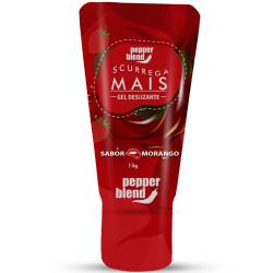 Gel Comestível Scurrega Mais Morango 15g Pepper Blend - ShopSensual