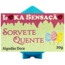 Vela Sorvete Quente Sabor Algodão Doce 30g Loka Sensação - ShopSensual