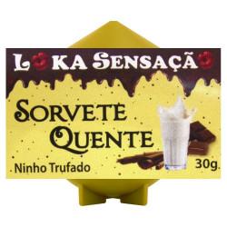 Vela Sorvete Quente Sabor Ninho Trufado 30g Loka Sensação - ShopSensual