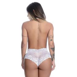 Body Sexy Vermelho em Renda Frente Única Regulável - ShopSensual