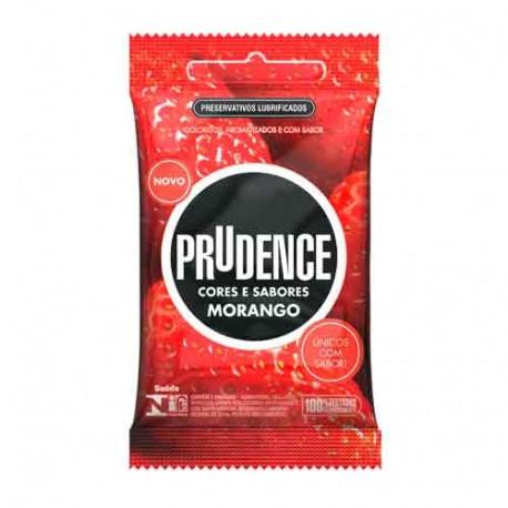 Preservativos Cores e Sabores Morango Prudence - ShopSensual