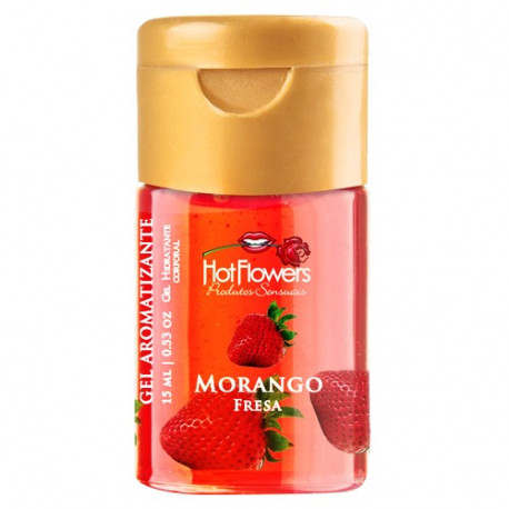 Gel Aromatizante Morango 15ml Hot Flowers - ShopSensual