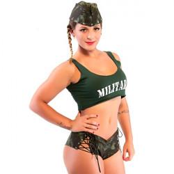 Fantasia Militar Short Amareto - ShopSensual