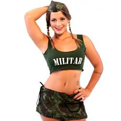Fantasia Militar Saia Amareto - ShopSensual