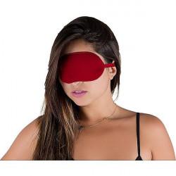 Tapa olho especial unissex em algodão com regulagem Vermelho - ShopSensual
