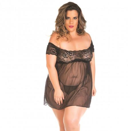 Camisola Gabriela Plus Size Pimenta Sexy - ShopSensual
