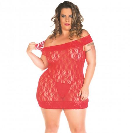 Camisola Malicia Plus Size Pimenta Sexy - ShopSensual