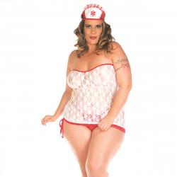 Fantasia Enfermeira Sexy Plus Size Pimenta Sexy - ShopSensual