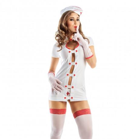 Fantasia Enfermeira Hot Flowers - ShopSensual