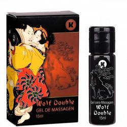 Wolf Double Esquenta e Esfria Gel para Massagem Corporal 15ml K-gel - ShopSensual