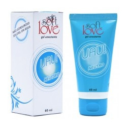 Uau! Lubrificante Aromático Neutro 60ml Soft Love - ShopSensual