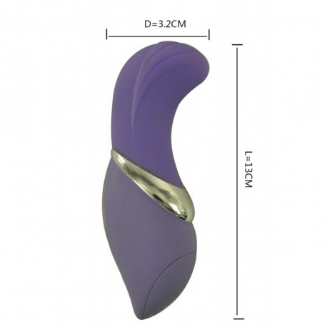Vibrador Wave em Silicone Solf Touch com Estimulador à prova D'àgua, 7 Velocidades - ShopSensual
