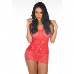 Camisola Renda Chik Pimenta Sexy Cor Vermelha- Shopsensual
