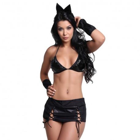 Fantasia Gatinha Pimenta Kente - ShopSensual